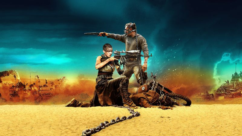 Mad Max: Fury Road, best movies of 2015, Tom Hardy, Charlize Theron, stills (horizontal)