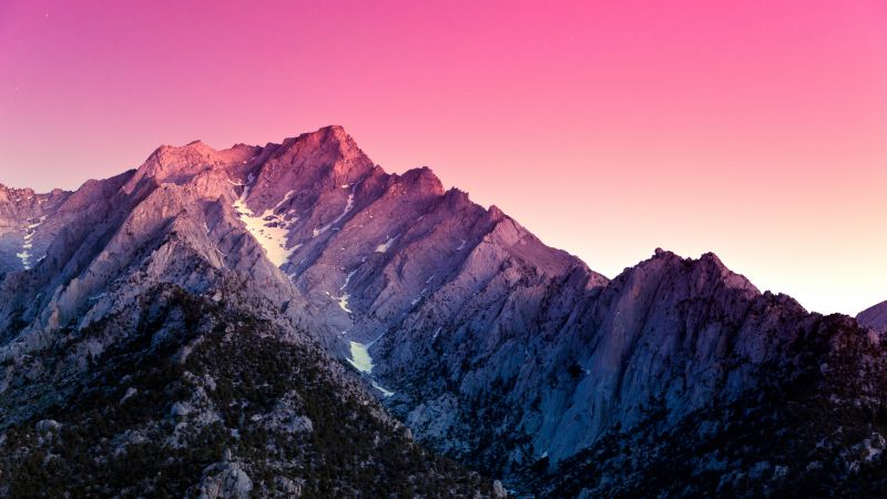 Alabama Hills, 5k, 4k wallpaper, California, US, Mountains, sky, sunset (horizontal)