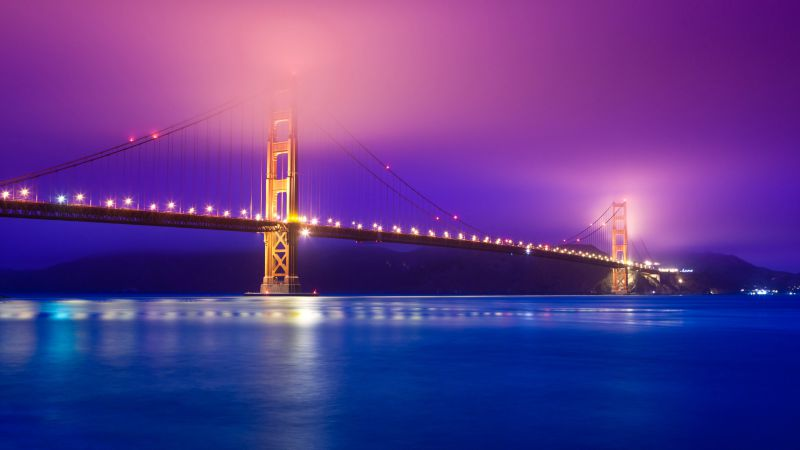 Golden Gate Bridge, San Francisco, Tourism, Travel (horizontal)
