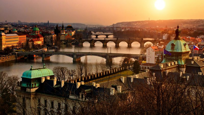Prague, Czech Republic, Tourism, Travel (horizontal)