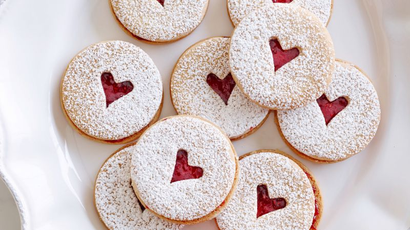 Cookies, heart (horizontal)