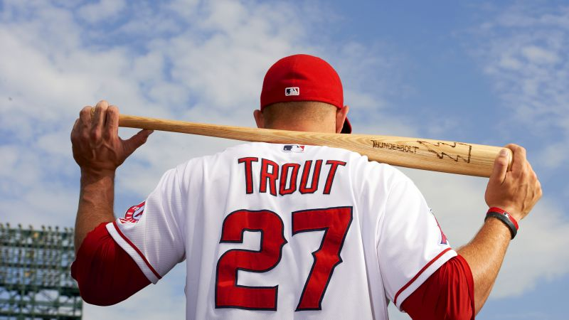 Baseball, Top baseball players, Mike Trout, Los Angeles Angels of Anaheim (horizontal)