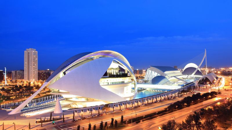 City of Arts and Sciences, Spain, Tourism, Travel (horizontal)