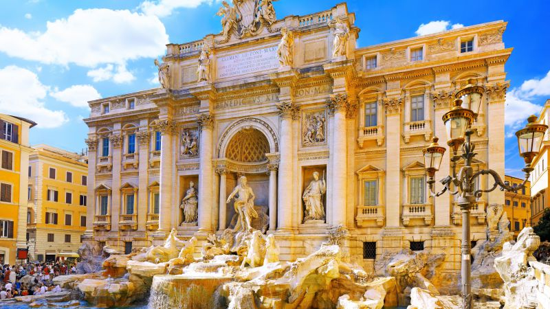 Trevi Fountain, Rome, Italy, Tourism, Travel (horizontal)