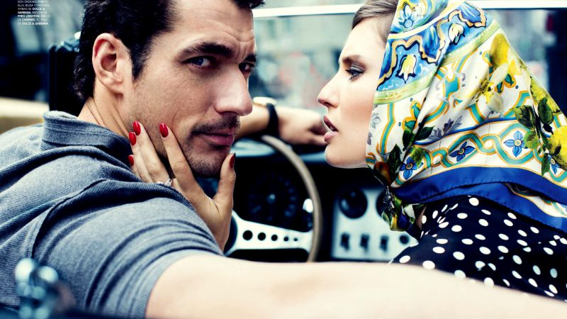 David Gandy, Top Fashion Male Models, car (horizontal)