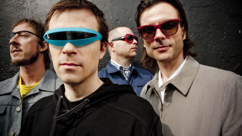 Weezer, Top music artist and bands, Rivers Cuomo, Patrick Wilson, Brian Bell, Scott Shriner (horizontal)