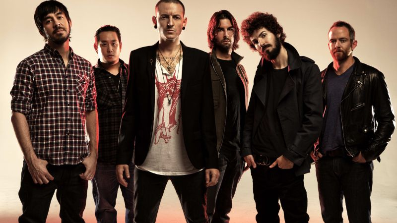 Linkin Park, Top music artist and bands, Chester Bennington, Mike Shinoda, Brad Delson, Dave Farrell (horizontal)