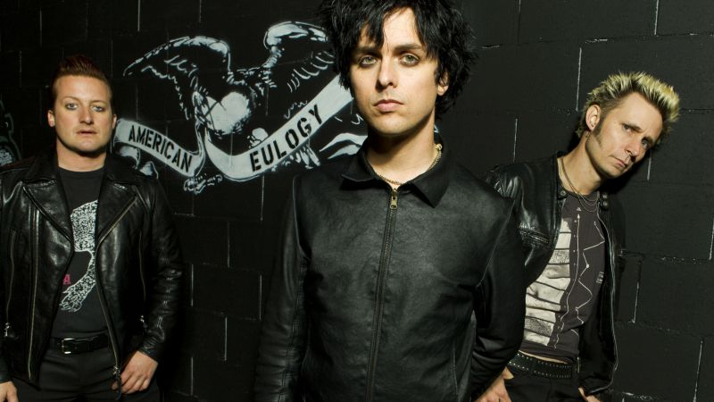 Green Day, Top music artist and bands, Billie Joe Armstrong, Mike Dirnt, Tre Cool, John Kiffmeyer (horizontal)