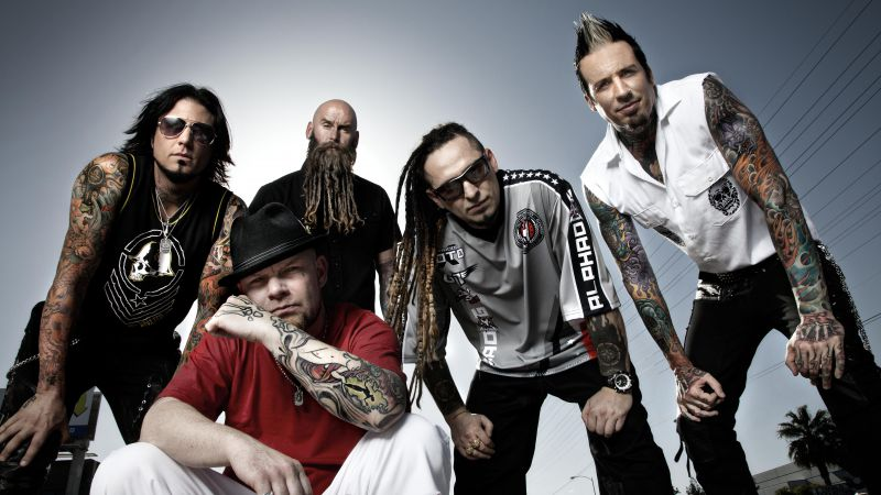 Five Finger Death Punch, Top music artist and bands, Ivan Moody, Zoltan Bathory, Jeremy Spencer, Jason Hook, Chris Kael (horizontal)
