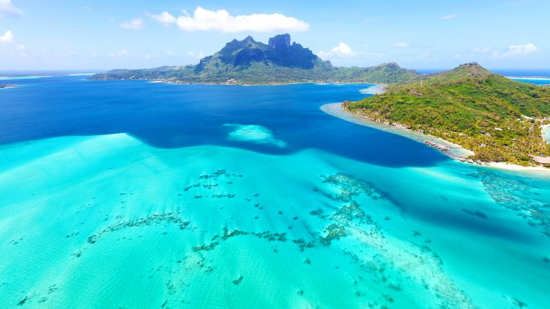 Bora-Bora, 4k, HD wallpaper, France, Best Beaches in the World, ocean, sea, island (horizontal)