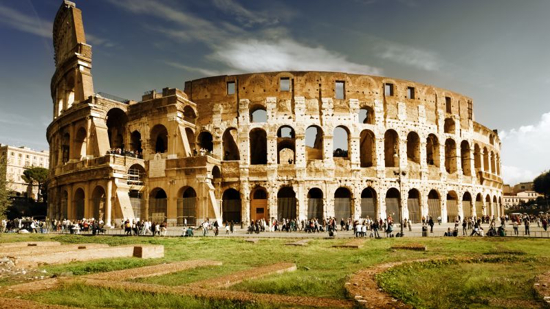 Colosseum, Rome, Italy, travel, tourism (horizontal)