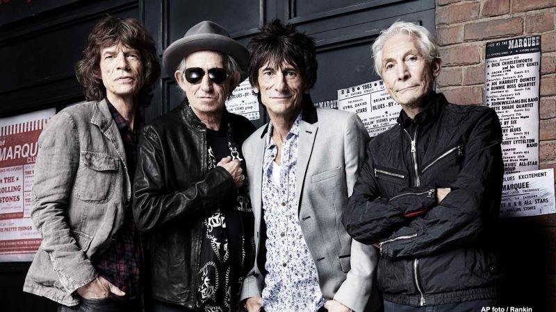 Rolling Stones, Top music artist and bands, Mick Jagger, Keith Richards, Charlie Watts, Ronnie Wood (horizontal)