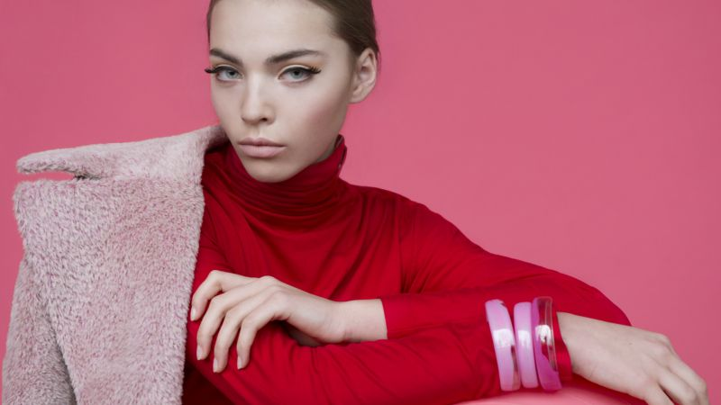 Kasia Bielska, Top Fashion Models, model, pink (horizontal)