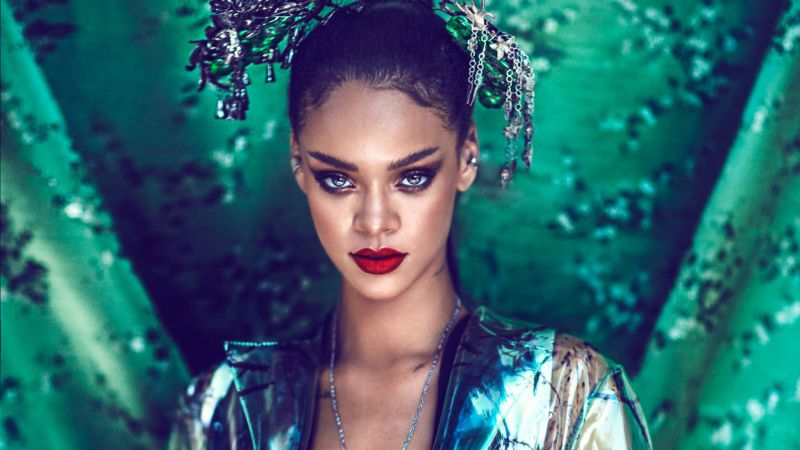 Rihanna, Top music artist and bands, singer, actress (horizontal)