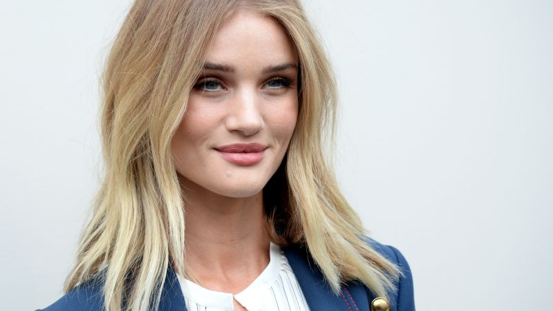 Rosie Huntington, Victoria's Secret Angel, model, fashion, blonde, portrait (horizontal)