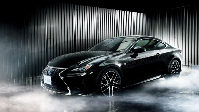 Lexus RC 300h, coupe, black. (horizontal)