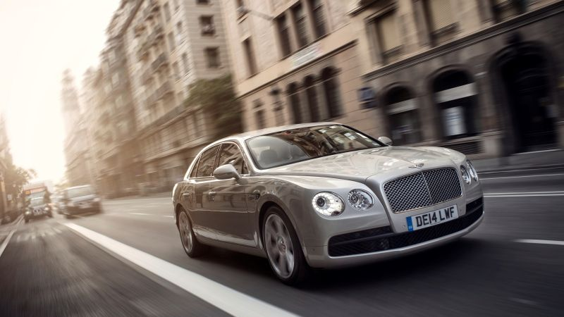 Bentley Flying Spur, sedan, luxery, grey. (horizontal)