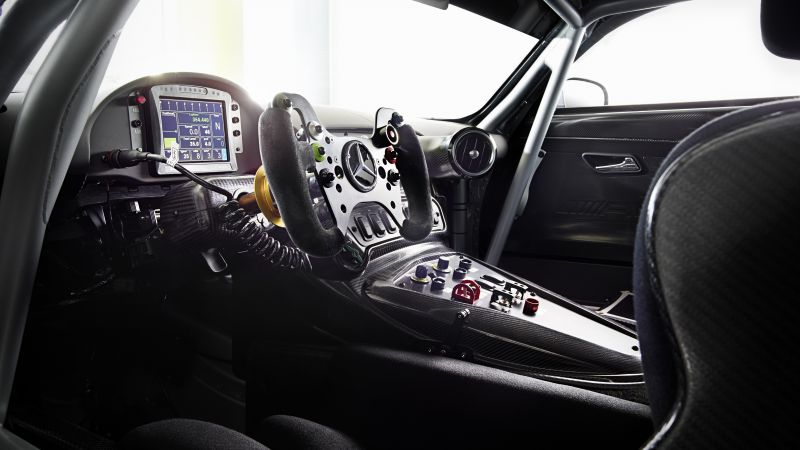 Mercedes AMG GT3, hypercar, coupe, interior. (horizontal)