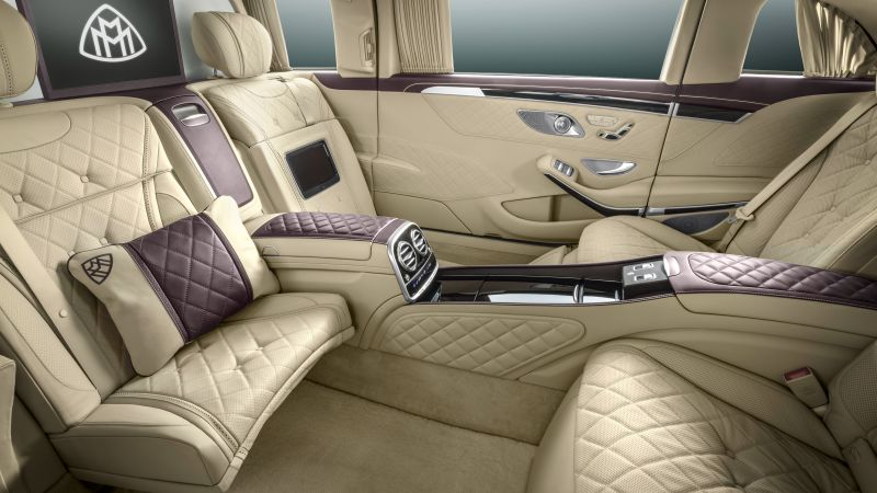 Mercedes Maybach S600 Pullman, sedan, interior, luxery. (horizontal)