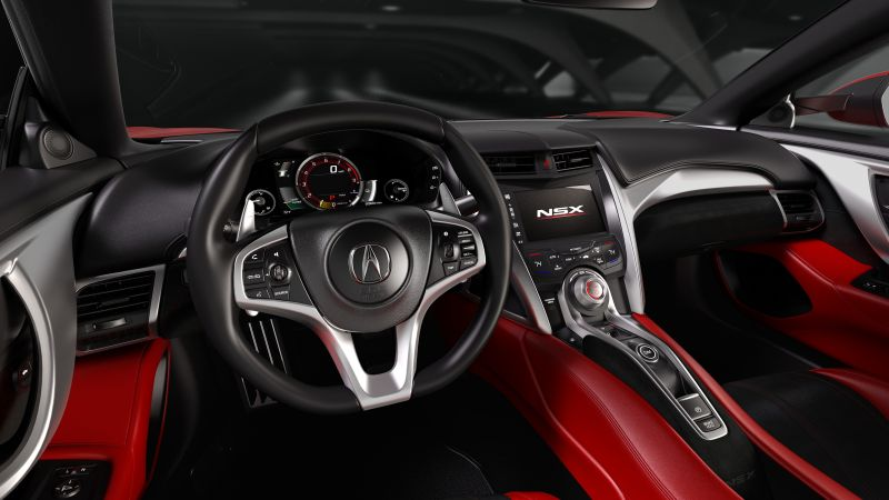 Acura nsx, supercar, coupe, hybrid, interior. (horizontal)