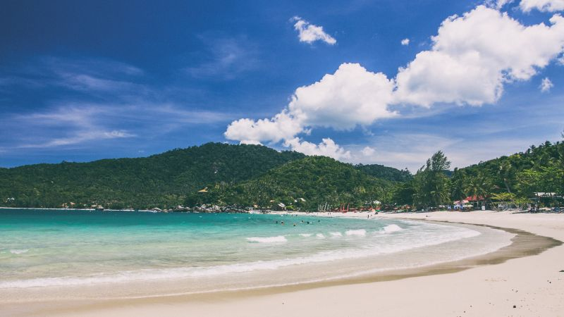 Ko Phangan, 5k, 4k wallpaper, Thailand, beach, coast, shore, sky (horizontal)