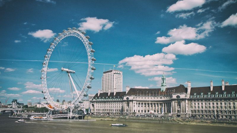 London Eye, Thames, London, England (horizontal)