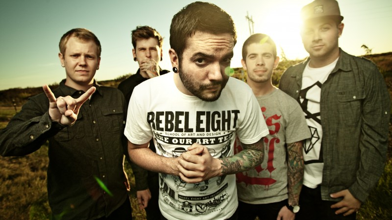 A Day to Remember, group, post-hardcore, tattoo, sleeve, old school (horizontal)