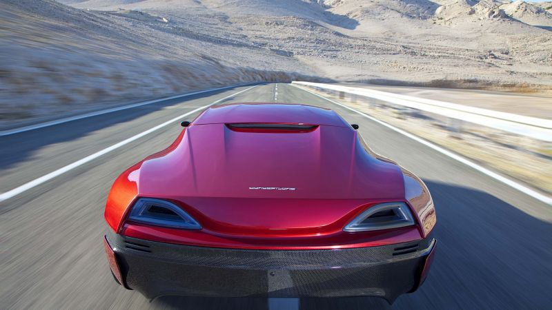 Rimac Concept One, electric, coupe, hypercar, red. (horizontal)