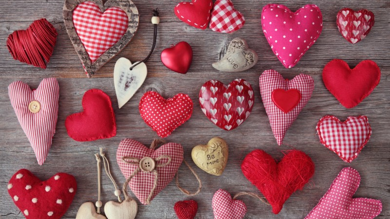 Valentine's Day, hearts, love, celebration (horizontal)