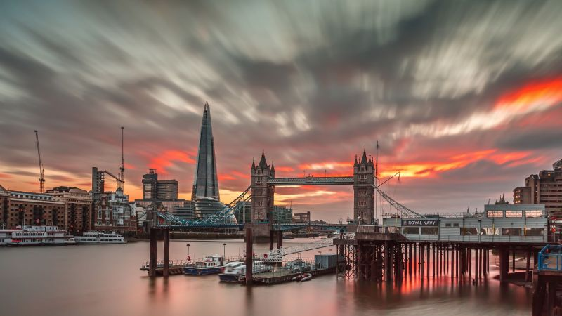 London, England, Europe, travel, tourism, sunset (horizontal)