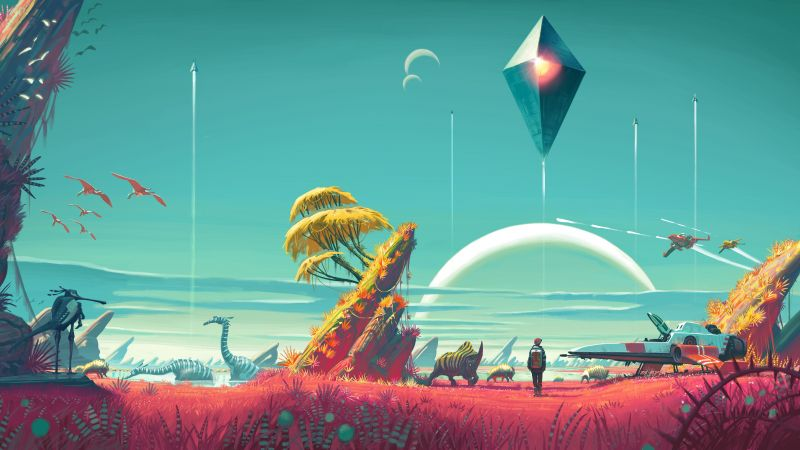 No Man's Sky, 4k, 5k wallpaper, Best Games 2015, game, sci-fi, space, fantasy, PC, PS4 (horizontal)