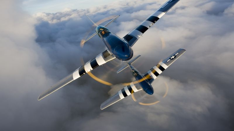 North American P-51 Mustang, fighter, US Army (horizontal)