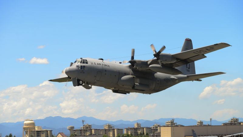 C-130 Hercules, military transport aircraft, US Army, U.S. Air Force (horizontal)