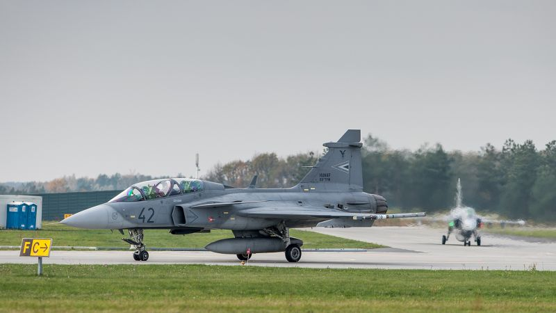 JAS 39D Gripen, fighter, Swedish army (horizontal)