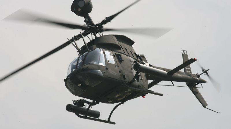OH-58 Kiowa, helicopter, US Army, U.S. Air Force (horizontal)