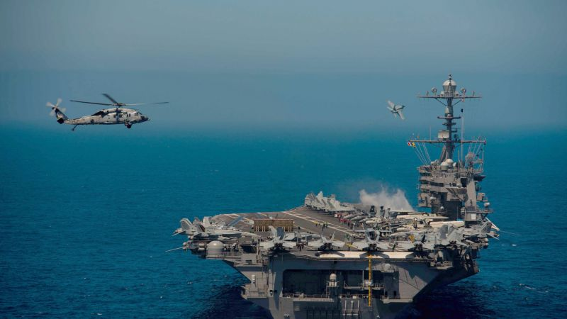 USS John C. Stennis, CVN-74, aircraft carrier, US Army (horizontal)