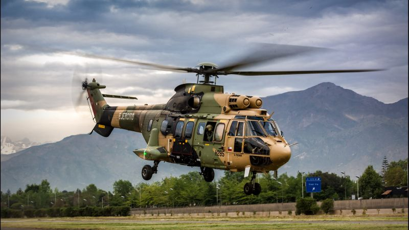 AS 532AL Cougar, military transport helicopter, French Air Force (horizontal)