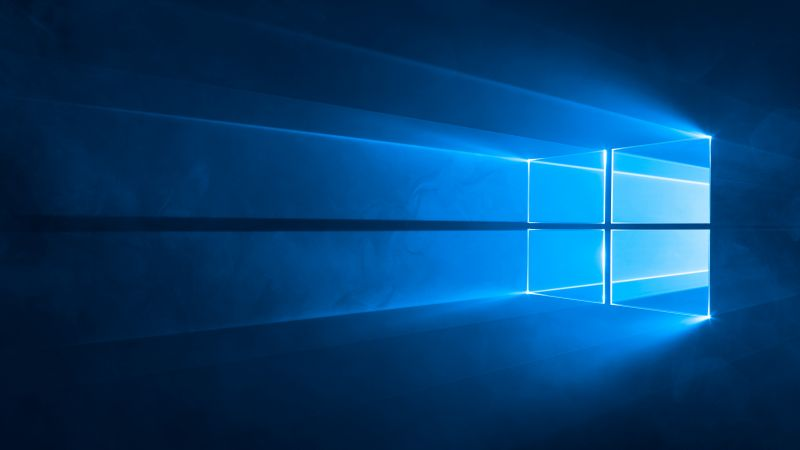 Windows 10, 4k, 5k wallpaper, Microsoft, blue (horizontal)