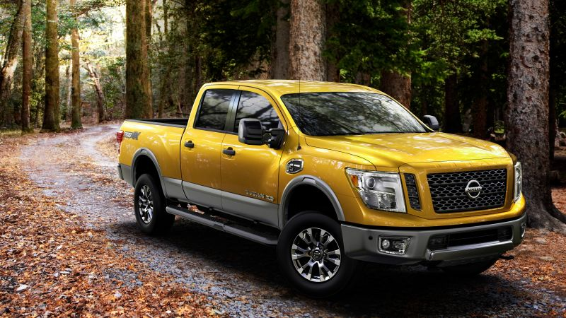 Nissan Titan, pickup, SUV, yellow, 2016 (horizontal)