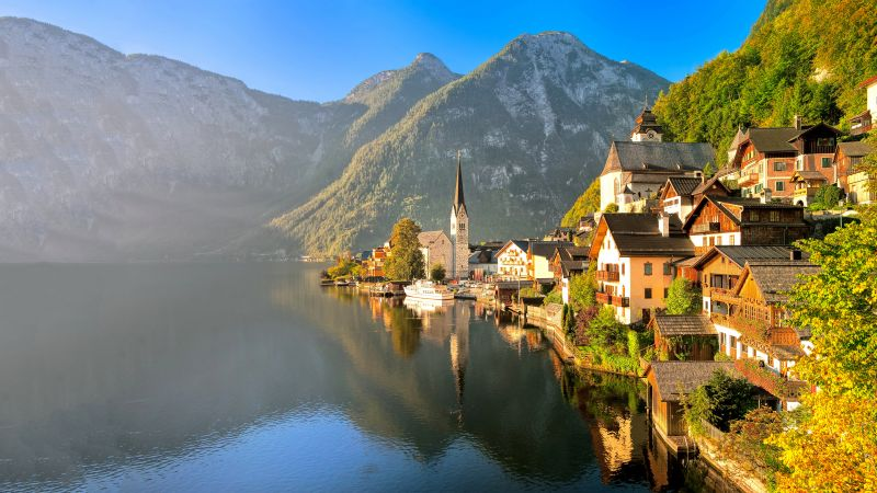 Hallstatt, Gmunden, Austria, Europe, tourism, travel, resort (horizontal)