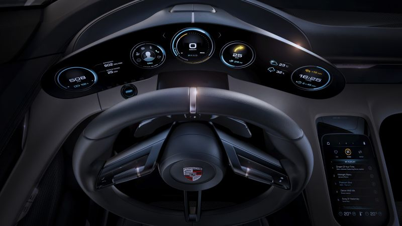 Porsche Taycan, Electric Cars, supercar, 800v, interior (horizontal)