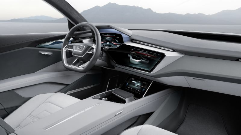 Audi e-tron quattro, electric cars, SUV, interior (horizontal)