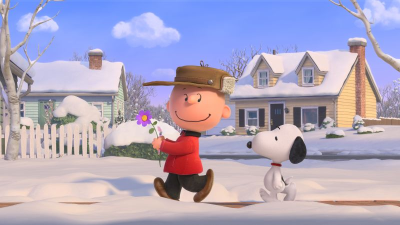 The Peanuts Movie, Snoopy, Charlie Brown, winter (horizontal)