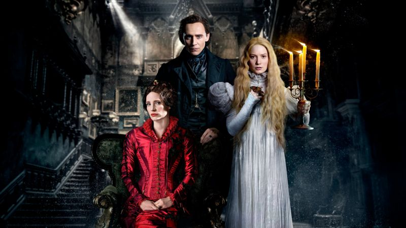 Crimson Peak, movie, Tom Hiddleston, Mia Wasikowska (horizontal)