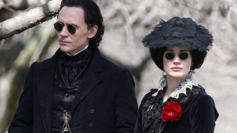 Crimson Peak, movie, Jessic Chastain, Tom Hiddleston (horizontal)