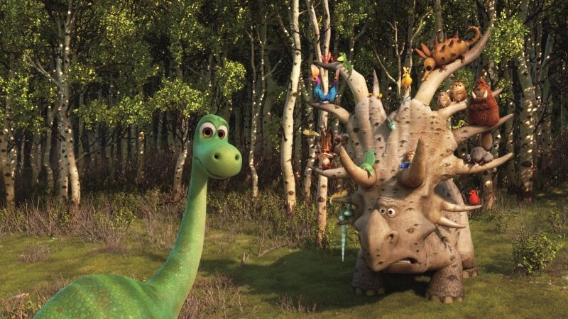 The Good Dinosaur, Brachiosaurus, Triceratops (horizontal)