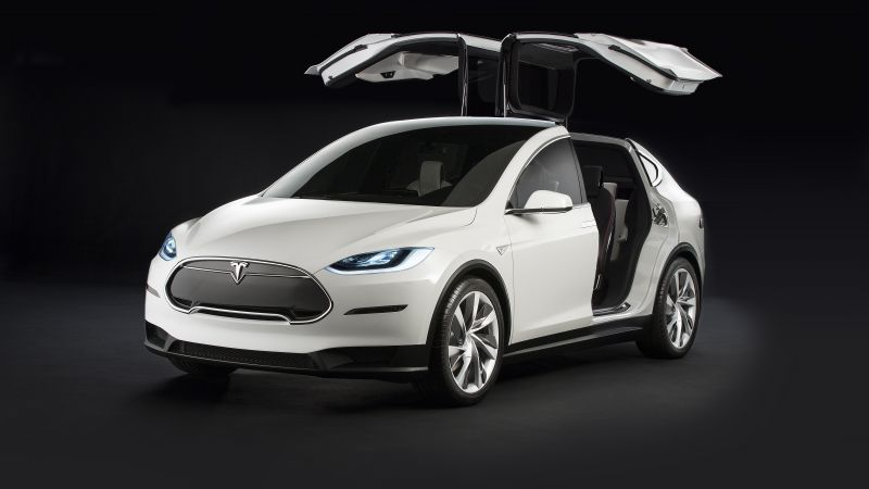 Tesla model x, white, electric cars, suv, 2016 (horizontal)
