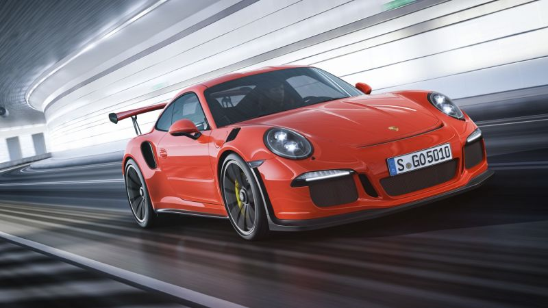 Porche 911 GT3, red,  (horizontal)