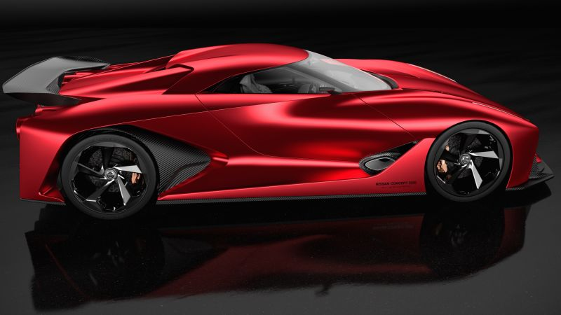 Nissan 2020 Vision Gran Turismo, red, concept, Nissan, supercar, luxury cars, sports car, speed, test drive (horizontal)