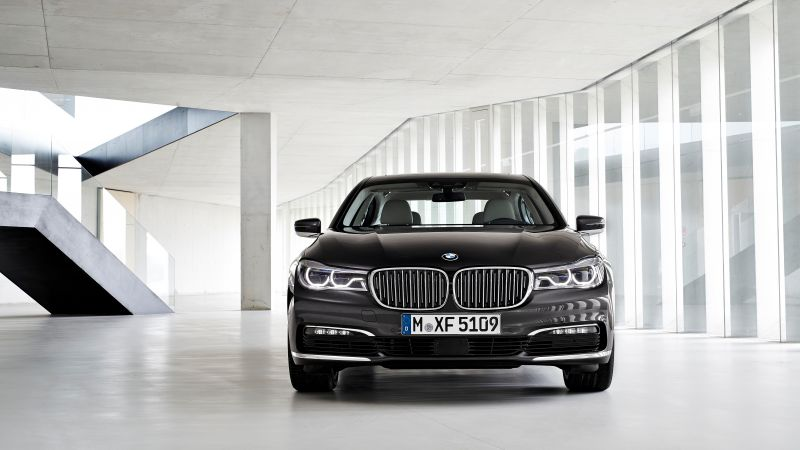 BMW 7-series, black, Frankfurt 2015 (horizontal)